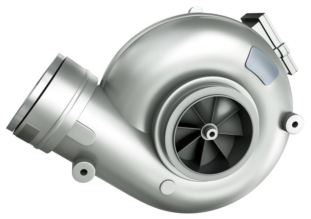Turbocharger, 3D rendering