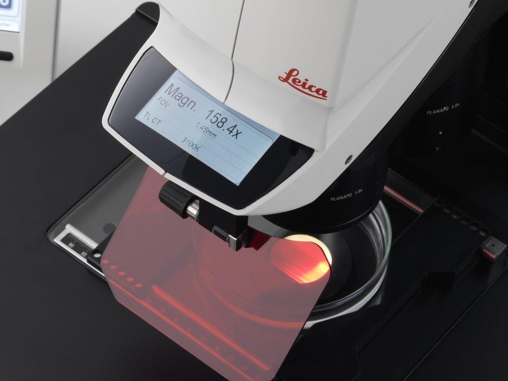 Leica M205 FA의 디스플레이 화면에서 모든 데이터를 한 눈으로 보기 가능